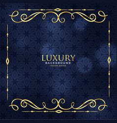 Luxury invitation floral premium background vector