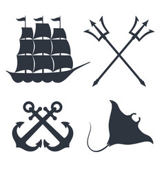 maritime topic vector image