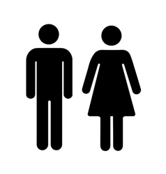 men and women silhouette black simple icons vector image