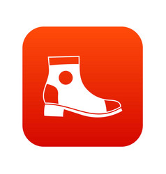 Men boot icon digital red vector