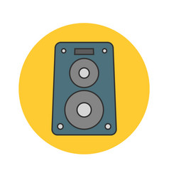 music speaker flat line icon vector image