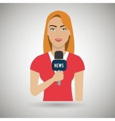 news reporter design vector image