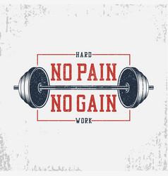 No pain gain - bodybuilding typography vector
