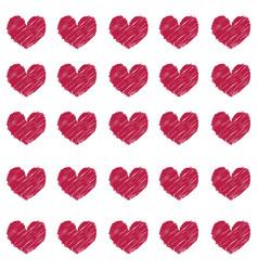 Pattern of vinous hearts vector