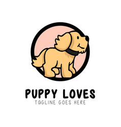 puppy logo design inspiration vector image