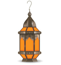 ramadan kareem realistic 3d lantern isolated on vector image