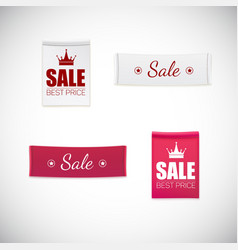 realistic clothing label vector image