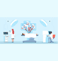 Robotic surgery medical operation process vector