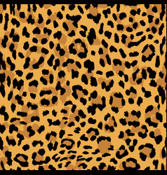 Seamless pattern leopard skin texture vector