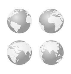 set of globe icon earth symbol vector image