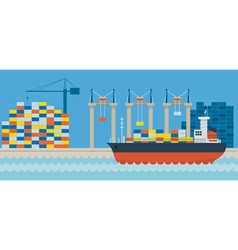 Ship Port Cargo Shipping vector
