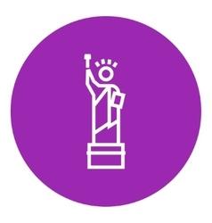 Statue of Liberty line icon vector