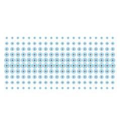 Target bullseye shape halftone effect vector