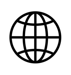 the globe icon vector image