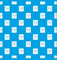 Tutorial with bookmark pattern seamless blue vector