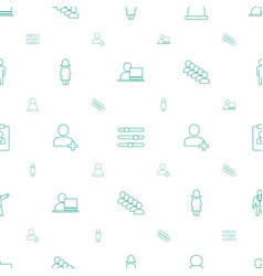 User icons pattern seamless white background vector
