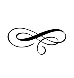 Vintage swirl calligraphic flourish vector