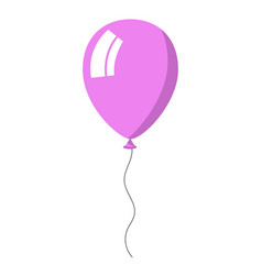 Violet balloon on white background vector
