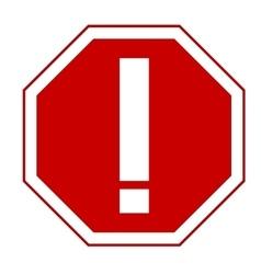 Warning exclamation mark vector image