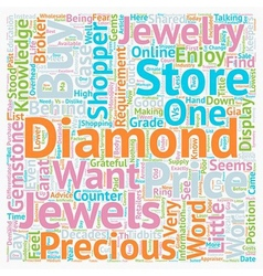 Why Jewelry Stores Dislike Knowledgeable Customers vector image
