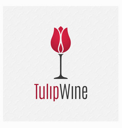 wine glass concept wine logo on white background vector image