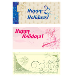 Winter banners vector