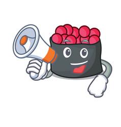 with megaphone ikura character cartoon style vector image