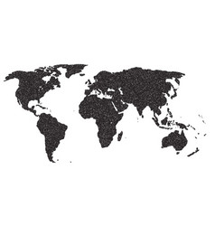 world outline dots vector image