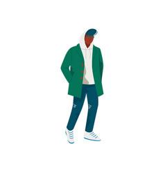 young african american man dressed in seasonal vector image