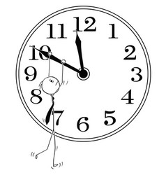 Conceptual cartoon of businessman and time vector