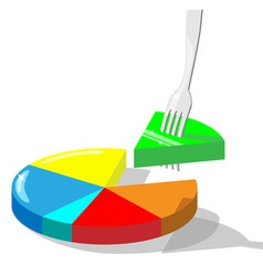Section of diagram stuck on a fork vector image
