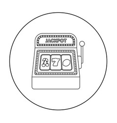 slot machine icon in outline style isolated on vector image vector image