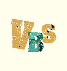 vbs concept stamped word art vector image