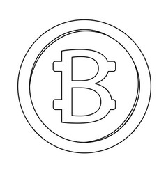 abstract virtual coin vector image