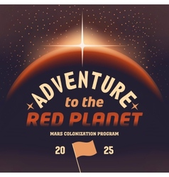 Adventure to the red planet vector