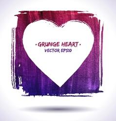 Grunge heart background vector image vector image