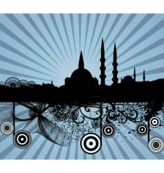 middle Eastern city vector image