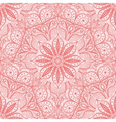 Pink seamless pattern of round lacy napkins vector image