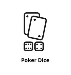 poker dice line icon vector image