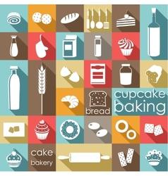 Baking flat set vector image vector image