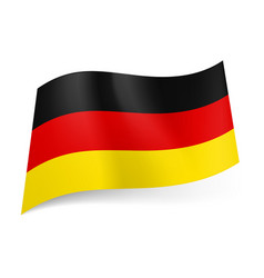 national flag of germany black red and yellow vector image vector image