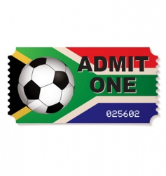 south africa football ticket vector image vector image