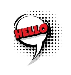 Comic text hello sound effects pop art vector image vector image