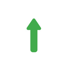 flat design of arrow moving up vector image vector image
