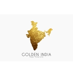 India map Golden India logo Creative India logo vector image vector image