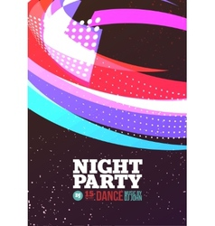 Night party vector image vector image