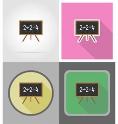 School education flat icons 05 vector