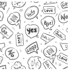 speech bubbles with internet chat words hand drawn vector image vector image