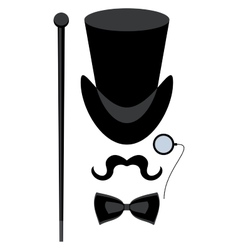 top hat isolated vector image
