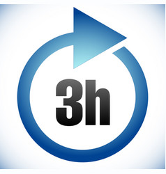 3h turnaround time tat icon interval for vector